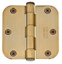 Emtek 3.5 Inch Solid Brass Residential Duty Door Hinges with 5/8 Inch Round Corners  (pair)