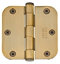 Emtek 3.5 Inch Solid Brass Heavy Duty Door Hinges with 5/8 Inch Round Corners  (pair)