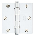 Emtek 3.5 Inch Solid Brass Ball Bearing Door Hinges with Square Corners  (pair)