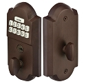 Emtek Sand Cast Electronic Keypad Deadbolt Lockset E1001