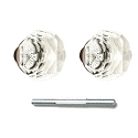 Emtek Diamond Crystal Knobs with Threaded Spindle