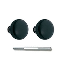 Emtek Ebony Knobs with Threaded Spindle