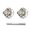 Emtek Old Town Clear Knobs with Threaded Spindle