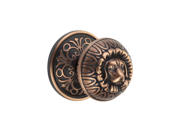 Emtek Dog Knob with Multiple Rosette Styles
