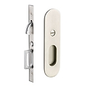 Emtek Narrow Modern Oval Pocket Door Hardware