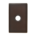 Emtek Brass Modern Rectangular Door Bell Cover