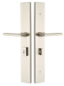 Emtek Large Modern Rectangular 2.5 x 17.5 Multi-Point Entry Set - Lock Below