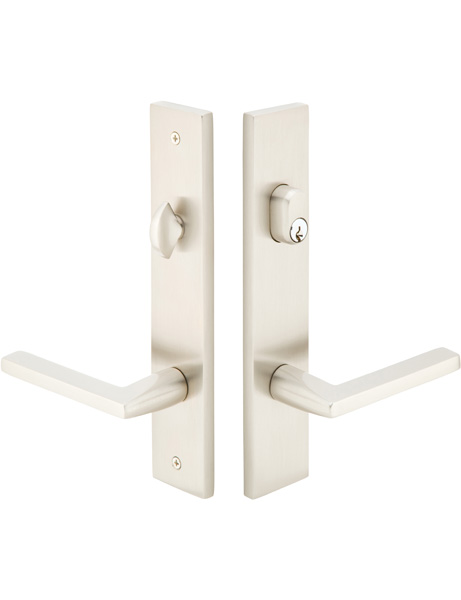 Emtek Configuration 2 Modern 2x10 Inch Multi Point Lock - Stainless Steel Trim Only