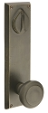 Emtek Rectangular 8 7/8 Inch KEYED Sideplate Lock for 5 1/2 Inch Bore