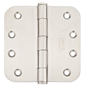 Emtek 4 Inch Stainless Steel Residential Duty Door Hinges with 5/8 Inch Radius Corners