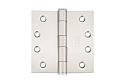 Emtek 4 Inch Stainless Steel Heavy Duty Door Hinges with Square Corners (Pair)