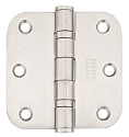 Emtek 3.5 Inch Stainless Steel Heavy Duty Door Hinges with 5/8 Inch Radius Corners (pair)