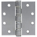 PHG 4-1/2 Inch Heavy Duty Ball Bearing Hinge with Square Corners, Satin Chrome (each)