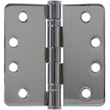 PHG 4 Inch Commercial Grade Ball Bearing Hinge with 1/4 Inch Radius Corners (each)