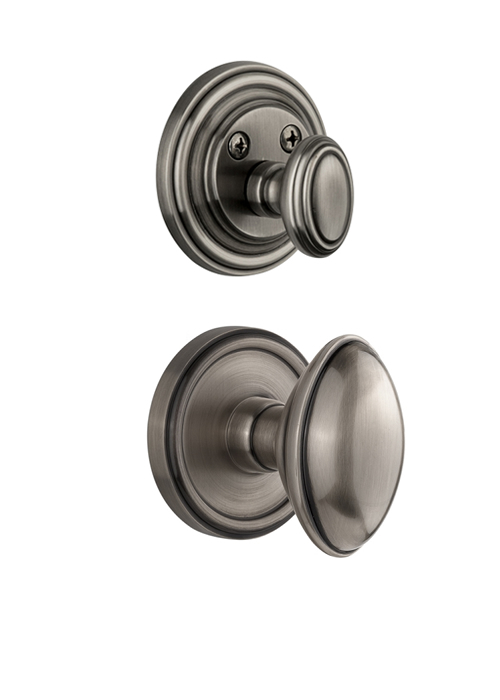 Grandeur Georgetown Handleset with Eden Prairie Knob - (Interior Half Only, with Deadbolt)