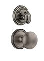 Grandeur Georgetown Handleset with Fifth Avenue Knob - (Interior Half Only, with Deadbolt)