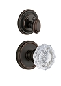 Grandeur Georgetown Handleset with Fontainebleau Knob - (Interior Half Only, with Deadbolt)
