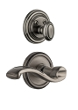 Grandeur Georgetown Handleset with Portofino Lever - (Interior Half Only, with Deadbolt)
