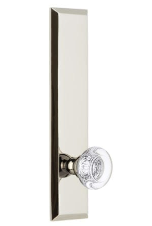 Grandeur Fifth Avenue Tall Plate with Bordeaux Knob