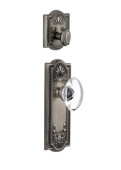 Grandeur Parthenon Handleset with Provence Knob - (Interior Half Only, with Deadbolt)