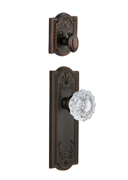 Grandeur Parthenon Handleset with Versailles Knob - (Interior Half Only, with Deadbolt)