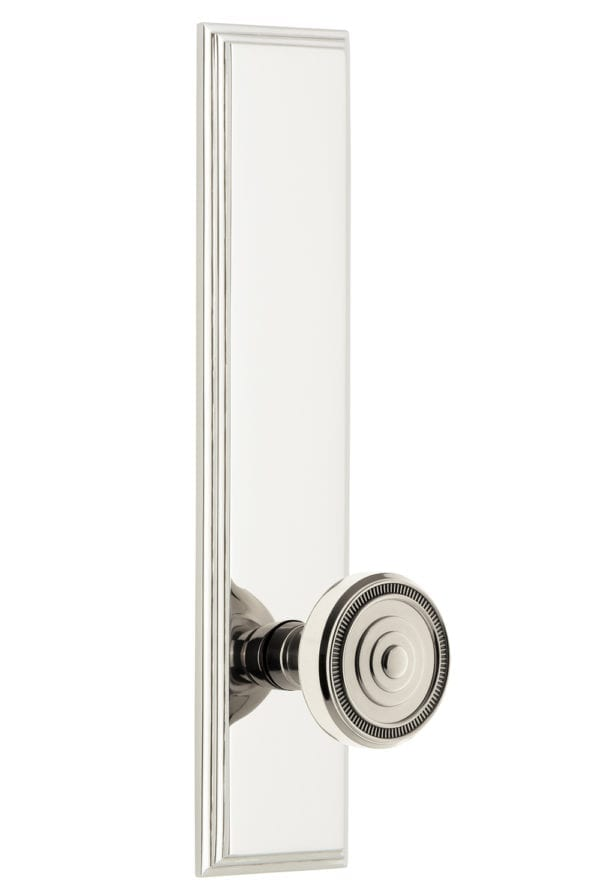 Grandeur Carre Tall Plate with Soleil Knob