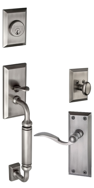Grandeur Fifth Avenue C Grip Handleset with Bellagio Lever