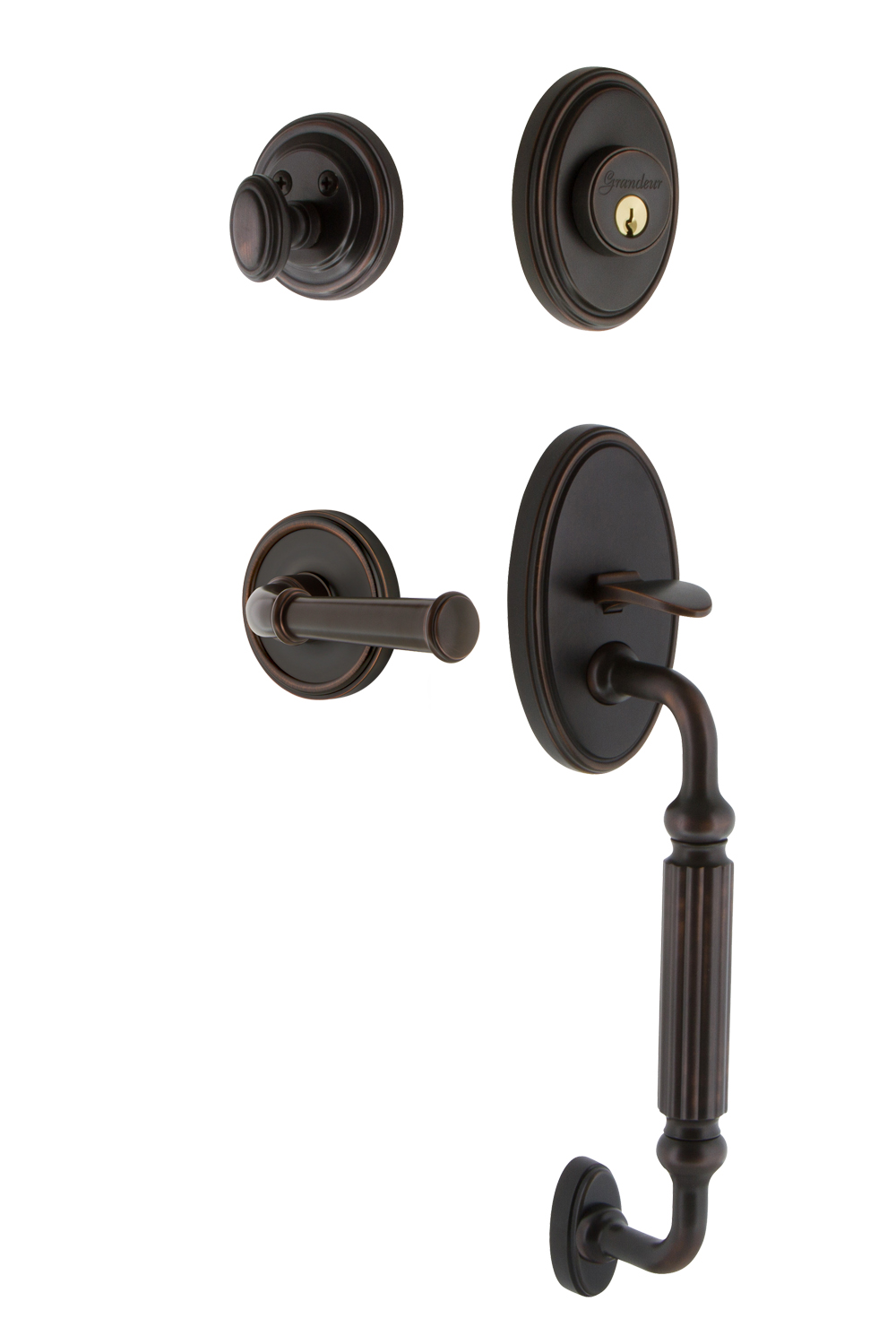 Grandeur Georgetown Handleset with F Grip and Georgetown Interior Plates