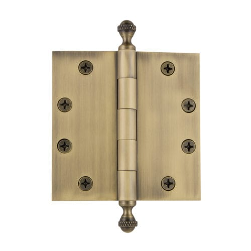 Grandeur 4.5 inch Acorn Tip Hinge with Square Corners (Heavy Duty)