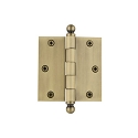 Grandeur 3 1/2 inch Ball Tip Hinge with Square Corners