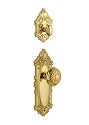 Grandeur Grande Victorian Handleset with Windsor Knob - (Interior Half Only, with Deadbolt)