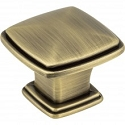 Hardware Resources Milan 1 1 3/16 inch Cabinet Knob in Brushed Antique Brass
