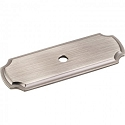 Hardware Resources 2-13/16 Inch Knob Backplate - Brushed Pewter