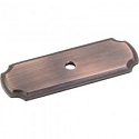 Hardware Resources 2-13/16 Inch Knob Backplate - Brushed Oil-Rubbed Bronze