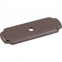 Hardware Resources 2-13/16 Inch Knob Backplate - Dark Bronze