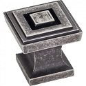 Hardware Resources Delmar Cabinet Knob in Distressed Pewter