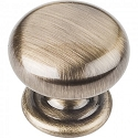 Hardware Resources Florence 1-1/4 Inch Cabinet Knob- Brushed Antique Brass
