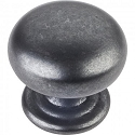 Hardware Resources Florence 1-1/4 Inch Cabinet Knob- Gun Metal
