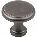 Hardware Resources Gatsby 1-1/8 Inch Cabinet Knob - Brushed Pewter