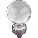 Hardware Resources Harlow 1-1/16 Inch Glass Sphere Cabinet Knob - Brushed Pewter