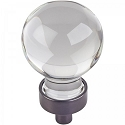 Hardware Resources Harlow 1-1/16 Inch Glass Sphere Cabinet Knob - Brushed Oil-Rubbed Bronze