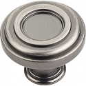 Hardware Resources Lafayette 1-3/8 Inch Cabinet Knob - Brushed Pewter