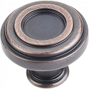 Hardware Resources Lafayette 1-3/8 Inch Cabinet Knob - Brushed Oil-Rubbed Bronze