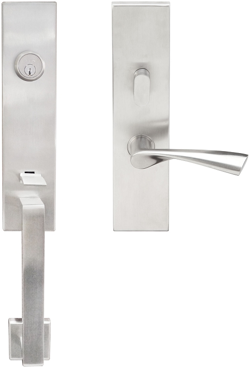Inox Manhattan Mortise Handleset