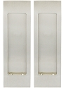 Inox Pocket Door Dummy Pair, FH27 Linear Flush Pull