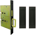 Inox PD8115 Mortise Pocket Door Passage w/ Lockcase as Dust Proof Strike, FH27 Linear Flush Pull