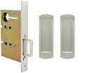 Inox PD8010 Mortise Pocket Door Passage w/ Lockcase, FH29 Linear Flush Pull