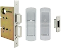Inox PD8440 Mortise Pocket Door Privacy Lockset, FH29 Linear Flush Pull