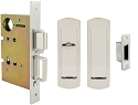 Inox PD8460 Mortise Pocket Door Patio Lockset, FH29 Linear Flush Pull