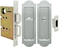 Inox PD8440 Mortise Pocket Door Privacy Lockset, FH31 Regal Flush Pull